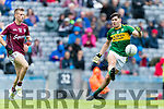 Mike Breen Kerry in action against Ryan Forde  Galway in the All Ireland Minor Football Final in Croke Park on Sunday.