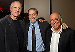Chevy Chase, John Alexander and Jimmy Buffett at the Hotel ZaZa Friday April 11,2008. (Dave Rossman/For the Chronicle)
