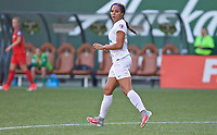 Portland, OR - Wednesday June 28, 2017: Sydney Leroux during a regular season National Women's Soccer League (NWSL) match between the Portland Thorns FC and FC Kansas City at Providence Park.