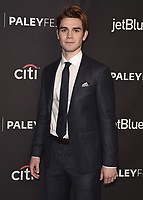 "HOLLYWOOD, CA - MARCH 25:  KJ Apa at PaleyFest 2018 - ""Riverdale"" at the Dolby Theatre on March 25, 2018 in Hollywood, California. (Photo by Scott KirklandPictureGroup)"