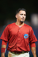 Clearwater Threshers right fielder Herlis Rodriguez (33) during a game against the Charlotte Stone Crabs on April 12, 2016 at Bright House Field in Clearwater, Florida.  Charlotte defeated Clearwater 2-1.  (Mike Janes/Four Seam Images)