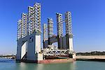 Floating dock Mar del Enol in the  port area of Puerto de Santa de Maria, Cadiz province,, Spain