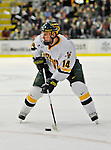 3 February 2008: University of Vermont Catamounts' forward Brian Roloff, a Sophomore from West Seneca, NY, in action against the University of Massachusetts Lowell River Hawks at Gutterson Fieldhouse in Burlington, Vermont. The Catamounts defeated the River Hawks 3-2...Mandatory Photo Credit: Ed Wolfstein Photo