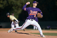 Trent Rothlin (13) of the Clemson Tigers in action versus the Wake Forest Demon Deacons during the second game of a double header at Gene Hooks Stadium in Winston-Salem, NC, Sunday, March 9, 2008.