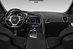 Stock photo of straight dashboard view of 2019 Chevrolet Corvette-Stingray 3LT 2 Door Coupe Dashboard