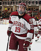 Jimmy Vesey (Harvard - 19) - The Harvard University Crimson defeated the Princeton University Tigers 3-2 on Friday, January 31, 2014, at the Bright-Landry Hockey Center in Cambridge, Massachusetts.