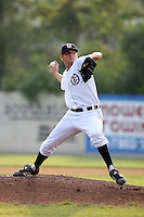 July 7th 2008:  Pitcher Trevor Feeney of the Oneonta Tigers, Class-A affiliate of Detroit Tigers, during a game at Damaschke Field in Oneonta, NY.  Photo by:  Mike Janes/Four Seam Images