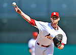 3 March 2011: St. Louis Cardinals' pitcher Brandon Dickson in action during a Spring Training game against the Washington Nationals at Roger Dean Stadium in Jupiter, Florida. The Cardinals defeated the Nationals 7-5 in Grapefruit League action. Mandatory Credit: Ed Wolfstein Photo