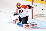 7 December 2009: Philadelphia Flyers' goaltender Brian Boucher gives up a second period goal to the Montreal Canadiens at the Bell Centre in Montreal, Quebec, Canada. The Canadiens defeated the Flyers 3-1. Mandatory Credit: Ed Wolfstein Photo