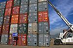 Terminal de Containers do porto do Rio de Janeiro. 2009. Foto de Rogério Reis