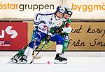 Stockholm 2013-11-08 Bandy Elitserien Hammarby IF - Villa Lidk&ouml;ping BK :  <br /> Villa Lidk&ouml;ping Jesper Eriksson i kamp om bollen med Hammarby Stefan Erixon <br /> (Foto: Kenta J&ouml;nsson) Nyckelord: