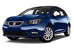 Stock pictures of low aggressive front three quarter view of 2016 Seat Ibiza ST Style 5 Door Wagon Low Aggressive