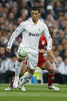 25.04.2012 Madrid Spain, UEFA Champions League Semi Final 2nd leg  Real Madrid vs Bayern Munchen. Picture show Cristiano Ronaldo (Portuguese forward of Real Madrid)