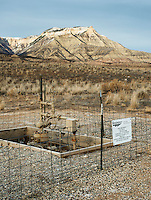 A gas well near the town of Parachute, Colorado, Wednesday, February 21, 2013. Fracking has been a hot topic for the area around Battlement Mesa and Parachute, Colorado with concerned citizens wanting more studies on potential health issues and drilling companies growing their operations.<br /> <br /> Photo by Matt Nager