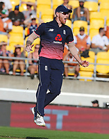 Englands Ben Stokes during the third ODI cricket match between the Blackcaps & England at Westpac stadium, Wellington. 3rd March 2018. © Copyright Photo: Grant Down / www.photosport.nz