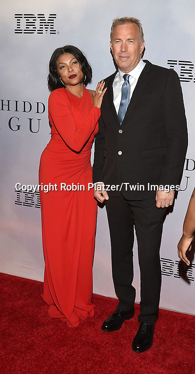 Taraji P Henson and  Kevin Costner  attend &quot;Hidden Figures&quot; Special Screening on December 10, 2016 at SVA Theatre in New York, New York, USA.<br /> <br /> photo by Robin Platzer/Twin Images<br />  <br /> phone number 212-935-0770