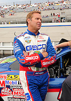 May 31, 2008; Dover, DE, USA; Nascar Nationwide Series driver Mike Wallace during the Heluva Good 200 at the Dover International Speedway. Mandatory Credit: Mark J. Rebilas-
