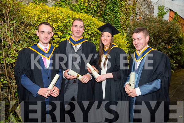 At the ITT Conferring Ceremony in the Brandon Hotel on Friday were BSC (Honours) in Wildlife Biology, l-r James Campion, Liam Regan, Denise Lyne and Alan Balfe