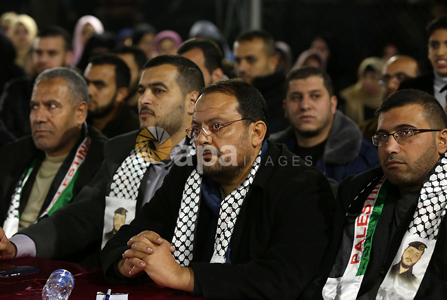 Palestinian supporters of the Islamic Jihad movment attend a festival to honor martyrs in the northern Gaza Strip, on December 14 2019. Photo by Ashraf Amra
