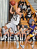 Sydney Rosenoff #43 of Commack drives to the net for a lay up during a Suffolk Shootout tournament game against Central Islip at Northport High School on Thursday, Dec. 28, 2017. She scored eight points in the third quarter. Commack won by a score of 58-34.