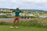 Robbie Pierse (Grange) on the 9th tee during Matchplay Round 1 of the South of Ireland Amateur Open Championship at LaHinch Golf Club on Friday 22nd July 2016.<br /> Picture:  Golffile | Thos Caffrey<br /> <br /> All photos usage must carry mandatory copyright credit   (© Golffile | Thos Caffrey)