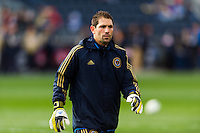 Philadelphia Union technical director and coach Rob Vartughian during warmups prior to playing Sporting Kansas City. Sporting Kansas City defeated the Philadelphia Union 3-1 during a Major League Soccer (MLS) match at PPL Park in Chester, PA, on March 2, 2013.