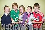 Carrie O'Connor, Tom Healy, Lauren Barrett, Mary Duggan and David FitzmauricePictured at the St Brendan's Oakpark Community Games medal Presentations at NaGaeil club on Thursday night were