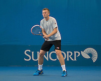 Andrey Golubev (KAZ)<br /> <br /> Tennis - Brisbane International 2015 - ATP 250 - WTA -  Queensland Tennis Centre - Brisbane - Queensland - Australia  - 5 January 2015. <br /> &copy; Tennis Photo Network