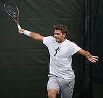 March 23 2016:  Stanislas Wawrinka (SUI)  practices at the Miami Open being played at Crandon Park Tennis Center in Miami, Key Biscayne, Florida.