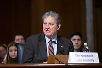United States Senator John Kennedy (Republican of Louisiana) speaks during the U.S. Senate Committee on Energy and Natural Resources hearing considering the nomination of Dan Brouillette to be Secretary of Energy on Capitol Hill in Washington D.C., U.S., on Thursday, November 14, 2019.  <br /> <br /> Credit: Stefani Reynolds / CNP/AdMedia