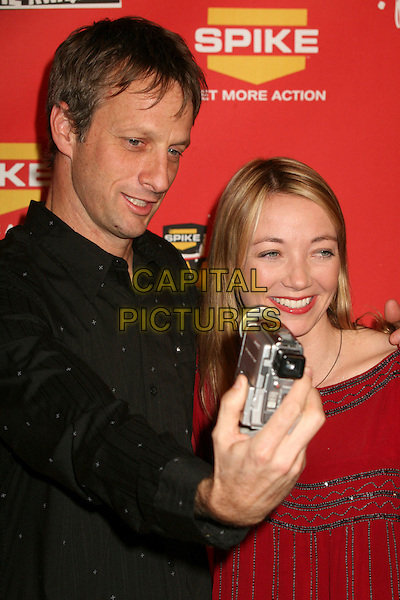 TONY HAWK & LHOTSE HAWK.Spike TV's 2006 Video Game Awards at the Galen Center - Arrivals, Los Angeles, California, USA, 08 December 2006..half length filming video camera.CAP/ADM/BP.©Byron Purvis/Admedia/Capital Pictures