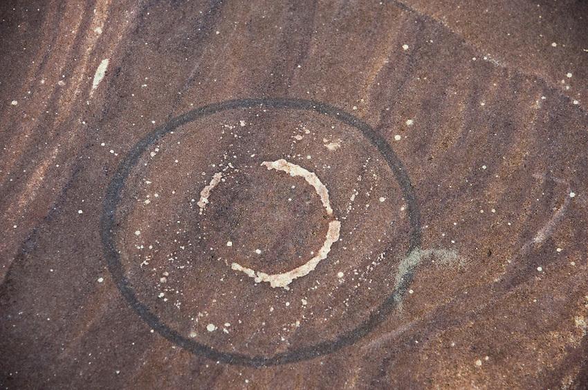 Sandstone swirls on Lake Superior shoreline on Michigan's Upper Peninsula.