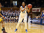 22 March 2014: Duke's Richa Jackson. The Duke University Blue Devils played the Winthrop University Eagles in an NCAA Division I Women's Basketball Tournament First Round game at Cameron Indoor Stadium in Durham, North Carolina.