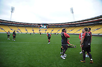 A general view of the NZ Warriors training session at Westpac Stadium, Wellington, New Zealand on Friday, 10 May 2013. Photo: Dave Lintott / lintottphoto.co.nz