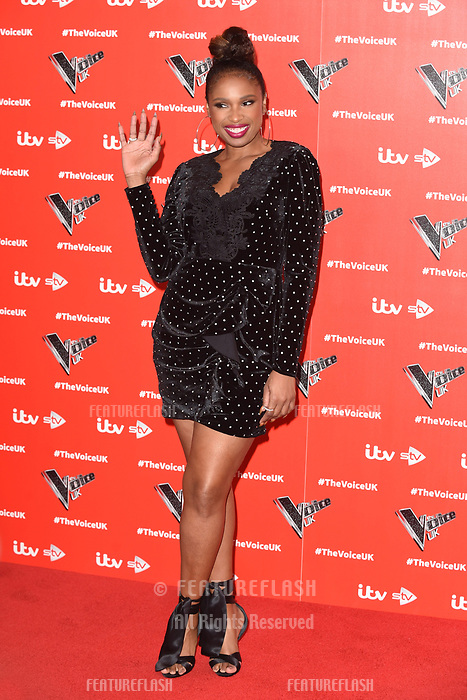 "LONDON, UK. January 03, 2019: Jennifer Hudson at the launch photocall for the 2019 series of ""The Voice"" London.<br /> Picture: Steve Vas/Featureflash"