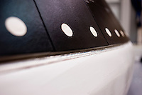 A detail of the heat shield panels for the Orion Multi-Purpose Crew Vehicle at Lockheed Martin in Denver, Colorado, Tuesday, June 7, 2011. The MPCV will serve as the exploration vehicle for NASA that will carry the crew to space, provide emergency abort capability, sustain the crew during the space travel, and provide safe re-entry from deep space return velocities...Photo by Matt Nager