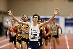 NAPERVILLE, IL - MARCH 11: Isaac Garcia-Cassani of  SUNY Geneseo celebrates after winning the mile at the Division III Men's and Women's Indoor Track and Field Championship held at the Res/Rec Center on the North Central College campus on March 11, 2017 in Naperville, Illinois. (Photo by Steve Woltmann/NCAA Photos via Getty Images)