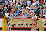 30.05.2015, Moskau, Vodny Stadion<br /> Moskau Grand Slam, Main Draw / Halbfinale<br /> <br /> Block Madelein Meppelink (#2 NED)<br /> <br />   Foto &copy; nordphoto / Kurth