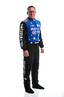 Feb 8, 2017; Pomona, CA, USA; NHRA funny car driver Tommy Johnson Jr poses for a portrait during media day at Auto Club Raceway at Pomona. Mandatory Credit: Mark J. Rebilas-USA TODAY Sports