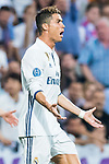 Cristiano Ronaldo of Real Madrid reacts during their 2016-17 UEFA Champions League Semifinals 1st leg match between Real Madrid and Atletico de Madrid at the Estadio Santiago Bernabeu on 02 May 2017 in Madrid, Spain. Photo by Diego Gonzalez Souto / Power Sport Images