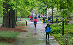 A soggy spring morning on west campus.