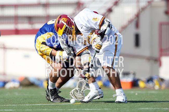 Brandon Johnson (UCSB #28) and Corey Janoff (USC #5)