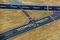 aerial photograph Sacramento Executive Airport, California