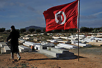 The cemetery where Mohamed BOUAZIZI the martyr of Tunisia leave. Le cimetiere ou Mohamed BOUAZIZI le martyr tunisien est enterr?. .©Benoit Schaeffer