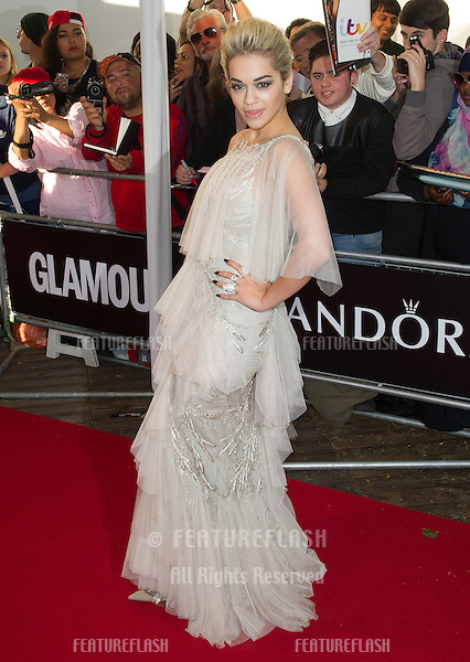 Rita Ora arriving for the 013 Glamour Awards, Berkeley Square, London. 04/06/2013 Picture by: Alexandra Glen / Featureflash