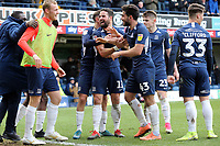 Stephen McLaughlin of Southend United is congratulated after his shot was deflected into the net for the third goal during Southend United vs Bristol Rovers, Sky Bet EFL League 1 Football at Roots Hall on 7th March 2020