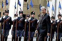 Roma, 5 Aprile 2017<br /> Paolo Gentiloni  in attesa del  principe del Galles a Palazzo Chigi.