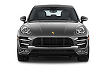 Car photography straight front view of a 2015 Porsche Macan Turbo 5 Door SUV