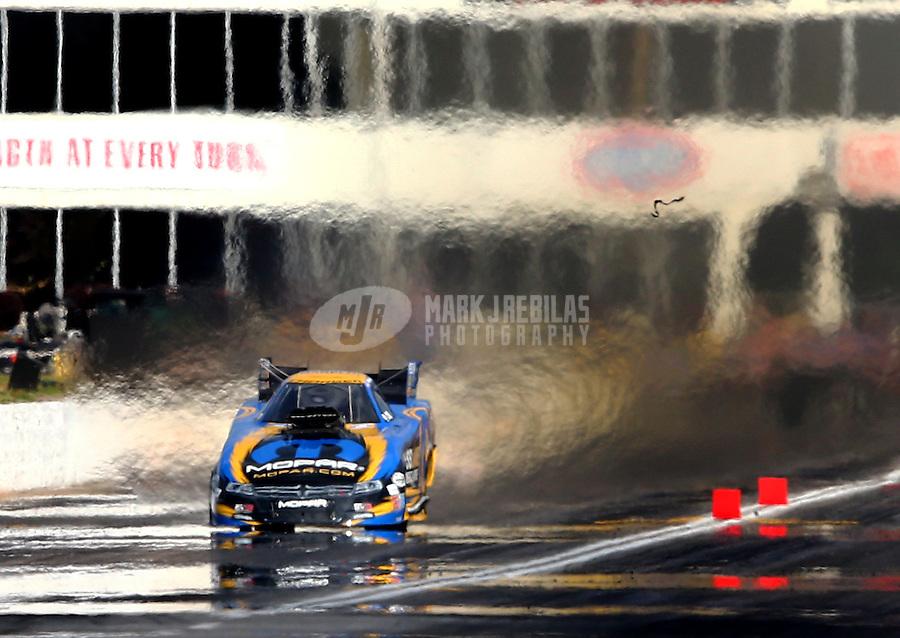 May 16, 2015; Commerce, GA, USA; NHRA funny car driver Matt Hagan during qualifying for the Southern Nationals at Atlanta Dragway. Mandatory Credit: Mark J. Rebilas-USA TODAY Sports