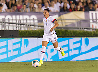 PASADENA, CA - AUGUST 4: Ali Krieger #11 dribbles during a game between Ireland and USWNT at Rose Bowl on August 3, 2019 in Pasadena, California.